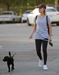 Margot Robbie - Walking her dog in Hollywood 6/7/18