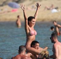Kimberley Garner & Amy Jackson | Bikini Candids in Mykonos | June 14 | 132 pics