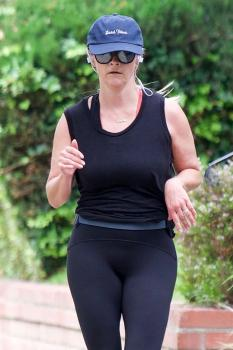 Reese Witherspoon - Out For Some Jogging Around Brentwood (6/16/18)