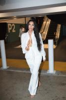 Kim Kardashian - All-white Leaving Her Pop-up Store in Century City Mall in LA (6/20/18)