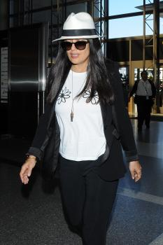 Salma Hayek - Off To Catch A Flight At LAX (6/27/18)