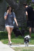 Nina Dobrev   Walking the Dog in LA   July 1   36 pics