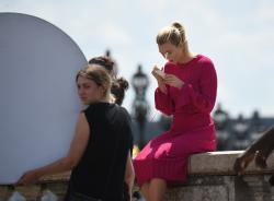 Karlie Kloss - On set of a photoshoot in Paris 7/3/18