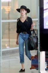 Amber Heard - Arriving in Paris 7/3/18