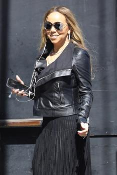 Mariah Carey -  Arriving at 'Jimmy Kimmel Live' in Hollywood (6/6/18)